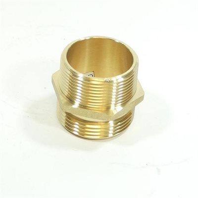 """2-1 / 2"""" Adapter Brass Male NST x 2"""" Male NPT (24)"""