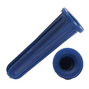 "1 / 4""x 1"" Blue Plastic Conical Anchors 500ct (10) Min.(2)"