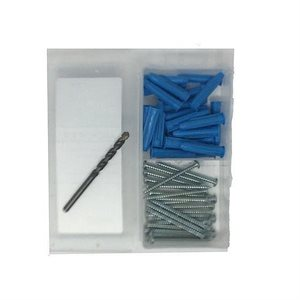 "Plastic Anchor Kit #10-12 100pc Philip / Slot Pan Screw (1) 1 / 4"" Masonry Bit (40)"
