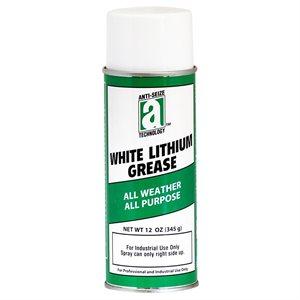 White Lithium Grease 11oz Aerosol Can (12)Min.(1)