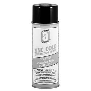 Galvanizing Cold Spray 16oz Aerosol Can(14.75ozNetWt) Zinc Stops Rust & Corrosion (12)