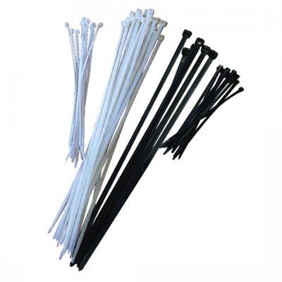"""Cable Ties Black UV 4"""" 18lb (1""""Dia) 100ct Bag (250) Min.(1)"""