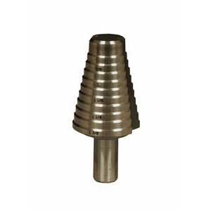 "13 / 16""-1-3 / 8"" 18 Step Drill Bit (Increments Every 1 / 16) (6) Min.(1)"