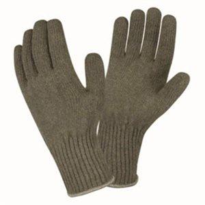 Winter Liner Gloves Green Wool Large (12) Min.(1)