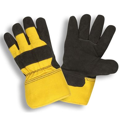 """Winter Leather Palm Pile Lined Black Leather 2-1 / 2"""" Safety Cuff Large (6) Min.(1)"""