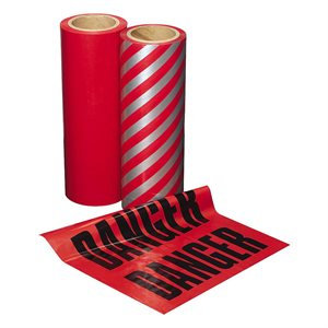 "Flags Red Warning / Lumber 12""x 12"" 300 ct roll (6)"