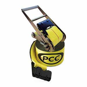 """4""""x 30' Strap Flat Hook PCC Ratchet Tie Down 5500lbs (10) Min.(5)"""