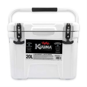 "Cooler Kuuma White 20L 18"" x 13.5""x 14.2"" with Carrying Handle"