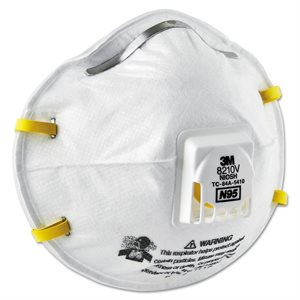 3M Dust Mask N95 10ct 3M 8210V with Valve (8) Min. (1)