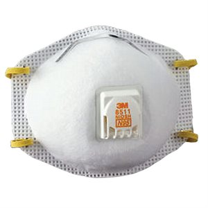 3M Dust Mask N95 10ct 3M 8511 with Valve (8) Min. (1)
