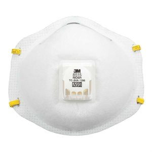 3M Dust Mask N95 10ct 3M 8515 with Valve Welding Respirator (8) Min. (1)