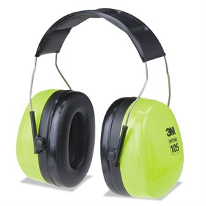 Muffs Hearing Protection 30db Over head Twin Cup PELTOR H10A (10) Min. (1)