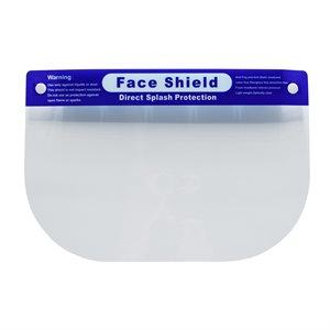 "Face Shield Clear Foam Band Elastic strap 8.5""x 13"" (100)"