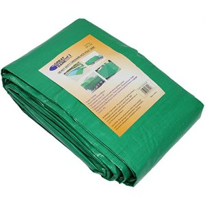 "Tarp Green Poly 12'x 20' Act. Size 11'-4"" x 19'-6"" Heavy-Duty (6) Min. 1"