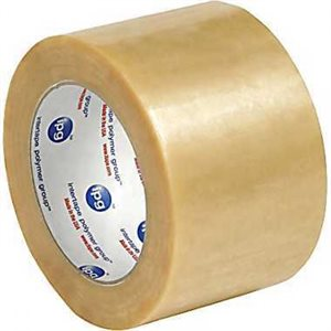 "Clear Central #500 3""x 110yd 2mil Rubber Adhesive (24) Min.(24)"