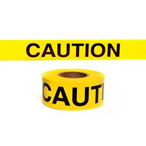"""3""""x 1000' 2.5mil Yellow """"Caution Caution"""" Tape (Each)"""