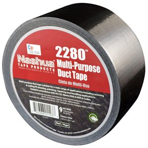 "Black 2""x 60yd 9mil Duct Tape Nashua 2280 (648)"