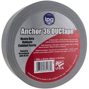"Grey 2""x 60yd 11mil Duct Tape IPG AC36 (648) Min.(24)"