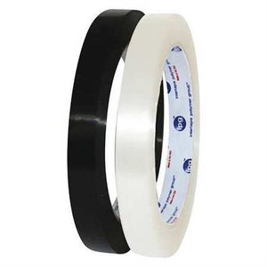 "Strapping Tape 3 / 8""x 60yd Black 90lb MOPP (192) Min.(192)"