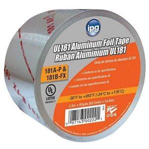 """Aluminum Foil 2-1 / 2""""x 60yd 2mil Tape Printed UL-181A IPG (16) Min.(1)"""