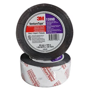 "Duct Closure 3""x 120yd Silver Tape Printed UL181B-FX 3M 1599B (16)"