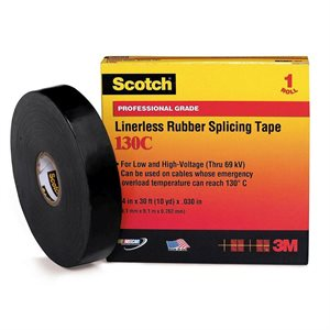"3M Rubber Splicing 1""x 30' 130C Tape (24) Min. (12)"
