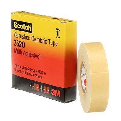 "3M Scotch Cambric 3 / 4""x 60' #2520 Tape (20) Min. (1)"