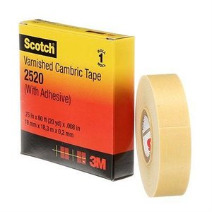 "3M Scotch Cambric 3 / 4""x 60' #2520 Tape (20) Min. (1)"