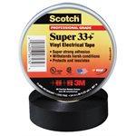 """3M Super 33+ 3 / 4""""x 66' Black Electrical Tape (100) Min.(10)"""