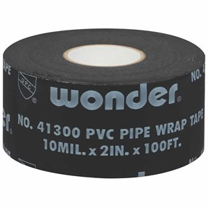 "Pipe-rap 10mil 1""x 100' Black Wonder Tape Printed (48) Min.(48)"