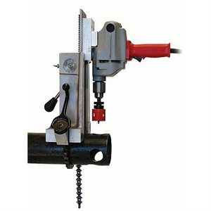 Hole Cutter System Milwaukee Drill w / Box Wheeler Rex (1)